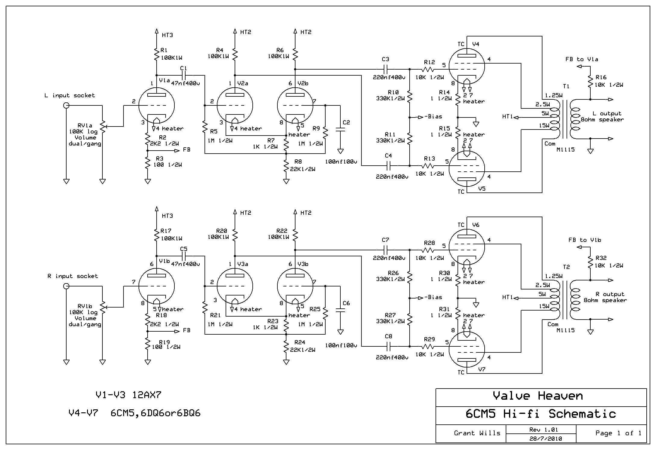 6CM5 Hi-fi Schematic